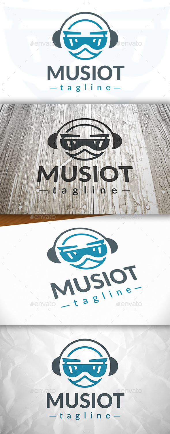 Music Robot Logo - Humans Logo Templates