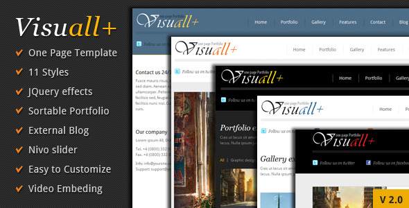 Free Download Visuall+ One Page Portfolio Nulled Latest Version