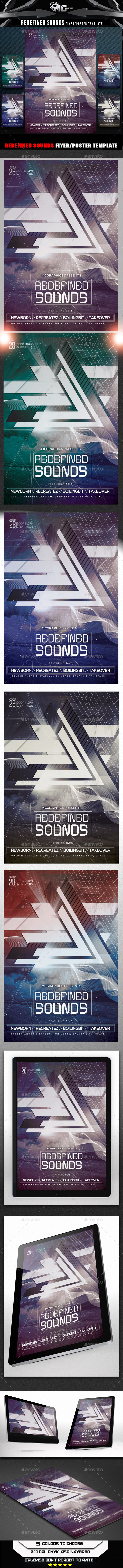 Redefined Sounds Flyer Template - Events Flyers
