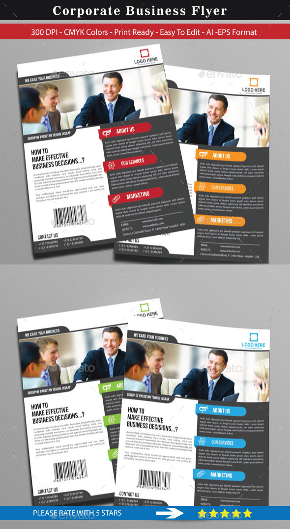 Corporate Flyer For Business - Corporate Flyers