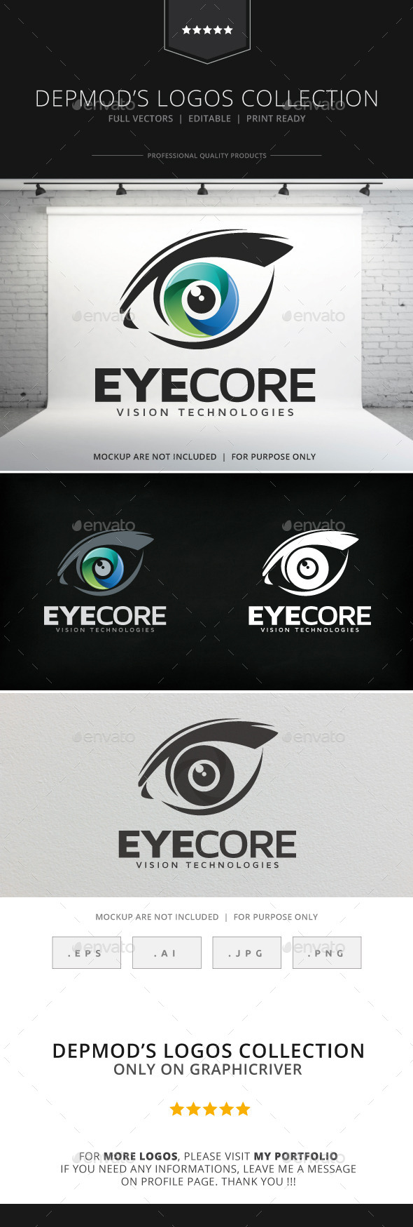 Eye Core Logo - Objects Logo Templates