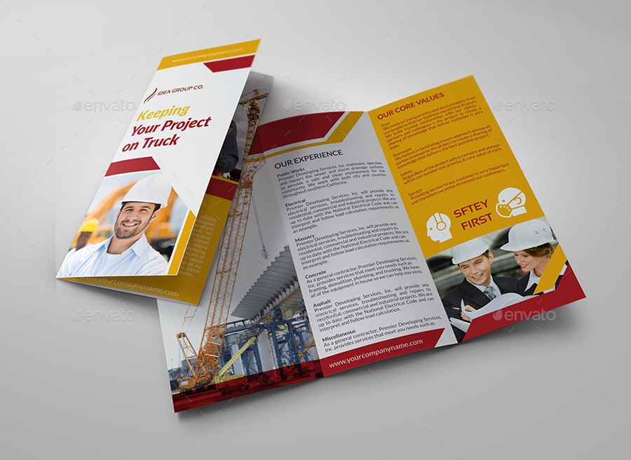 Construction Business TriFold Brochure Vol By OWPictures - Construction brochure templates