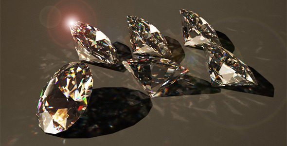 3D model of diamonds for 3D max. High quality! - 3DOcean Item for Sale