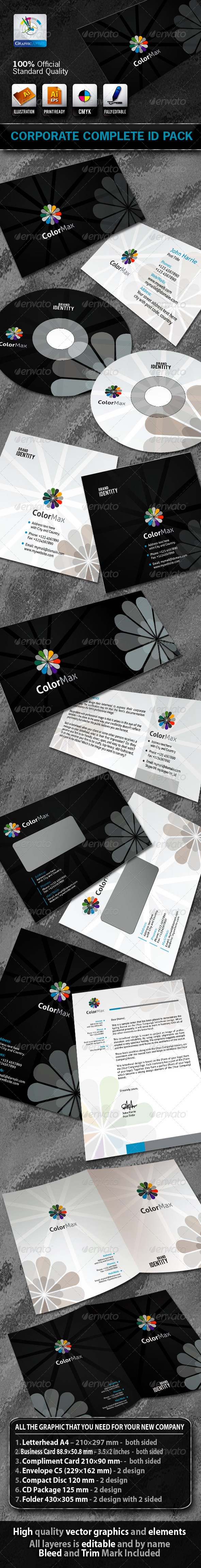 ColorMax Business Corporate ID Pack With Logo - Stationery Print Templates