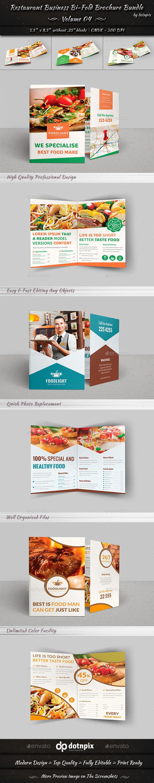 Restaurant Business Bi-Fold Brochure Bundle | v4 - Corporate Brochures