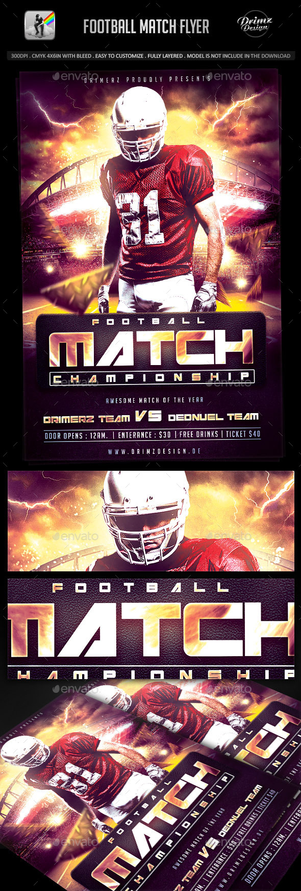 Football Match Flyer - Sports Events