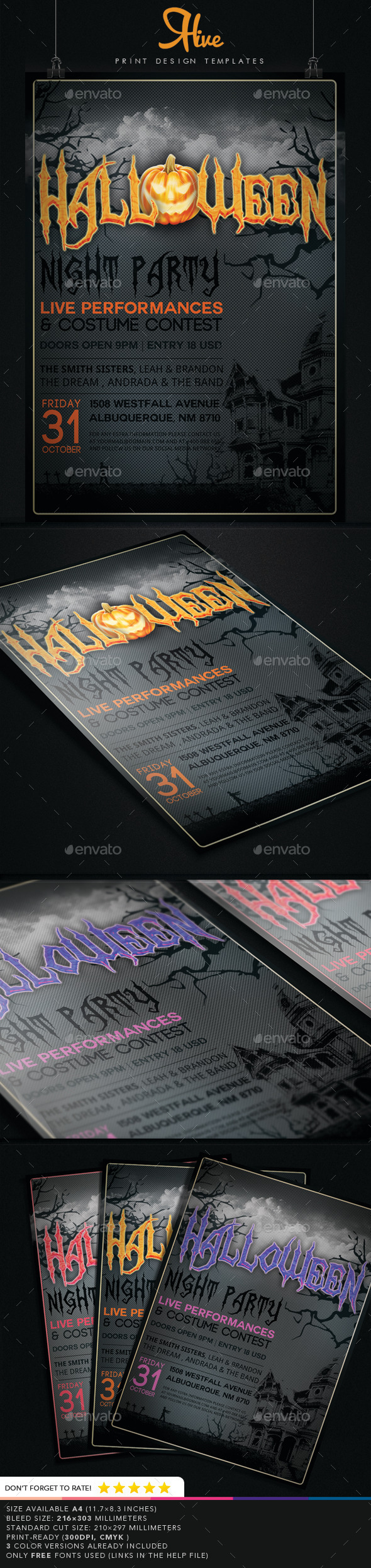Halloween Event Flyer  - Events Flyers