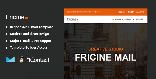 Fricine - Responsive Email + Themebuilder Access  by williamdavidoff