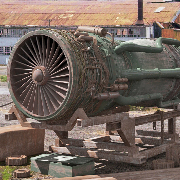 F-16 jet engine - 3DOcean Item for Sale