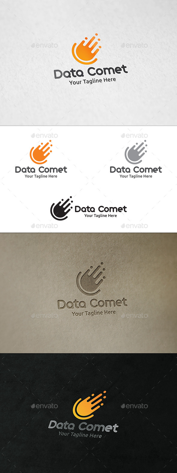 Data Comet - Logo Template - Symbols Logo Templates