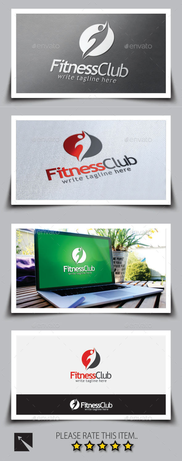 Fitness Club Logo Template - Humans Logo Templates