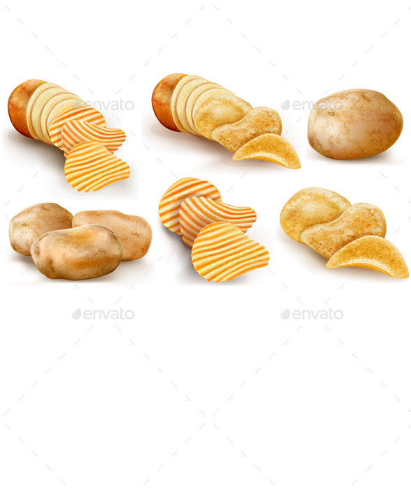 Potatoes and Chips Collection - Food Objects