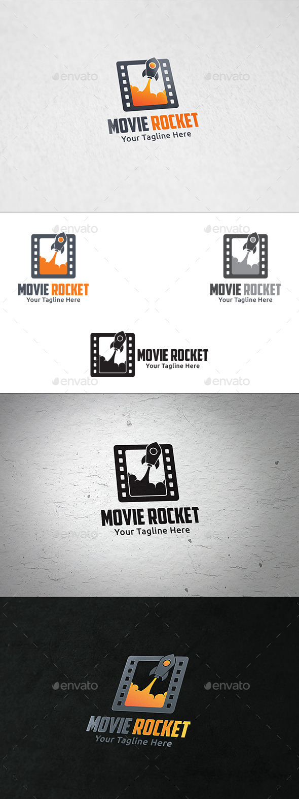 Movie Rocket - Logo Template - Abstract Logo Templates