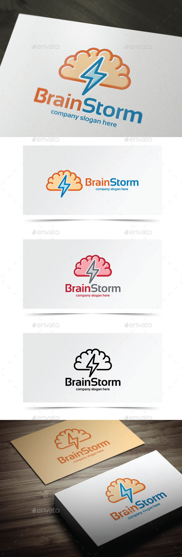 Brain Storm - Objects Logo Templates