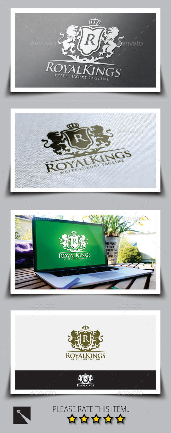 Royal Luxury Logo Template - Crests Logo Templates