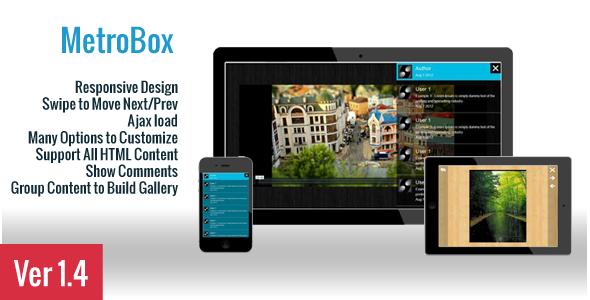 MetroBox - Responsive LightBox - CodeCanyon Item for Sale