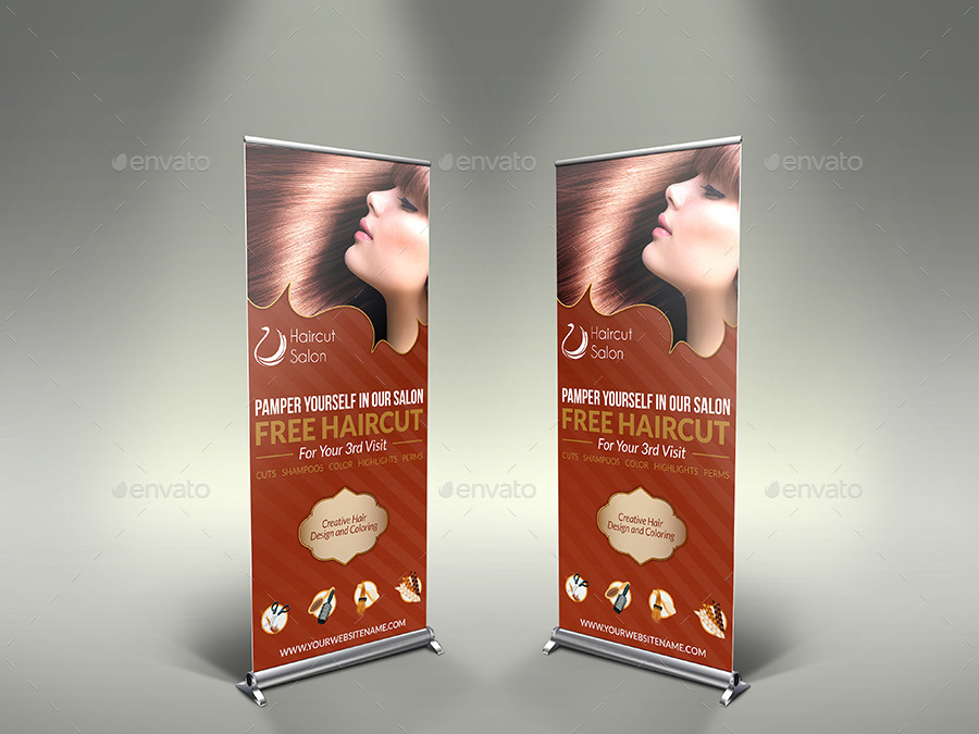 Hair Stylist & Salon Signage Roll-Up Template