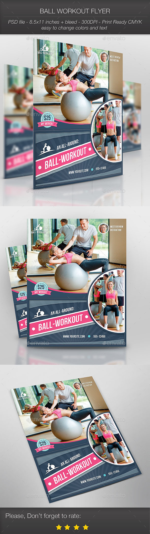 Ball Workout Flyer - Sports Events