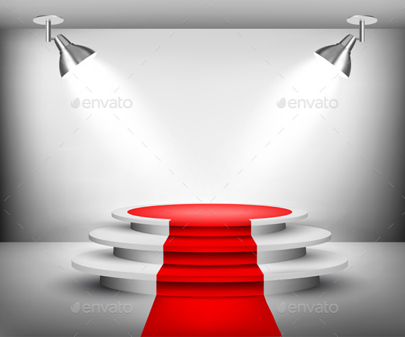 Showroom with Red Carpet - Miscellaneous Vectors