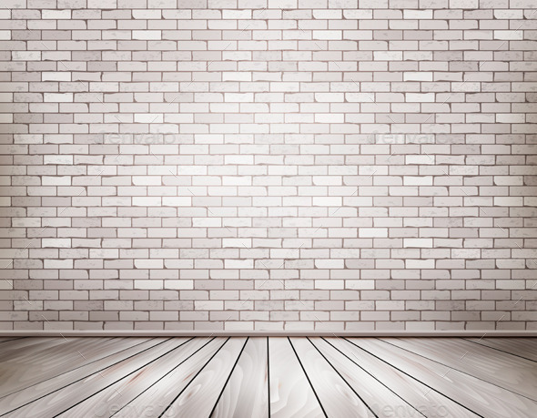 White Brick Room - Backgrounds Decorative