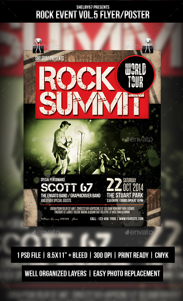 Rock Event Flyer / Poster Vol.5 - Events Flyers