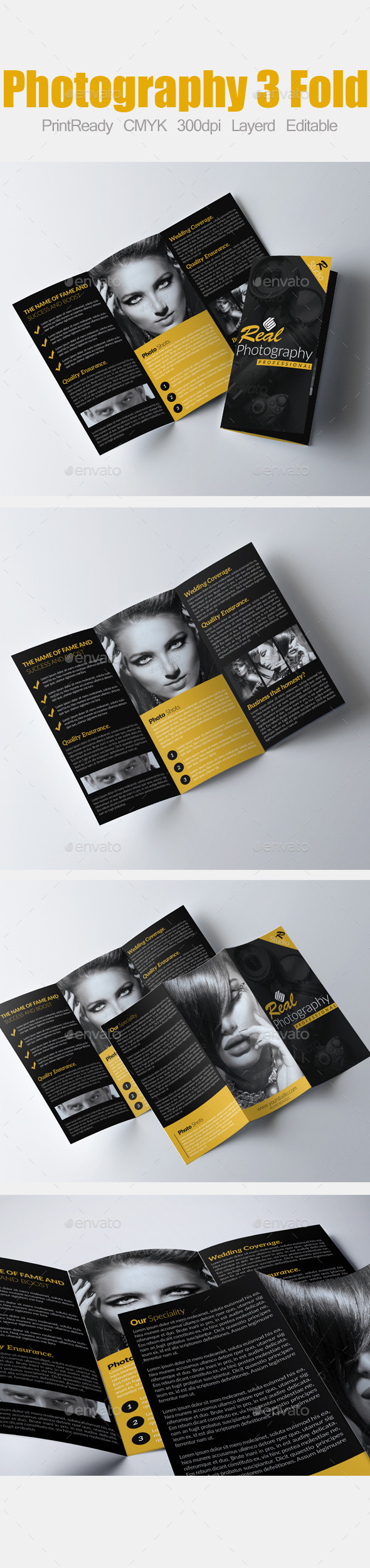 Tri Fold Fashion and Photography Brochure - Corporate Brochures