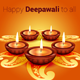 Happy Deepawali Greeting Vector - GraphicRiver Item for Sale