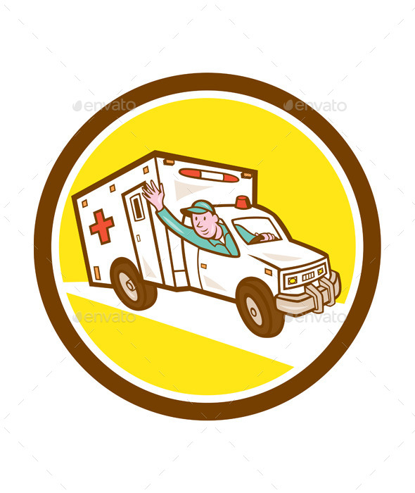 Ambulance Emergency Vehicle Cart - Travel Conceptual