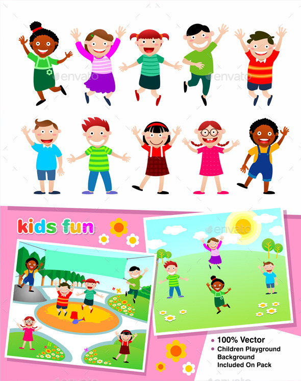 Kids Fun - People Characters