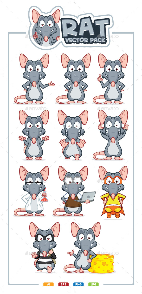 Rat Vector Pack - Animals Characters