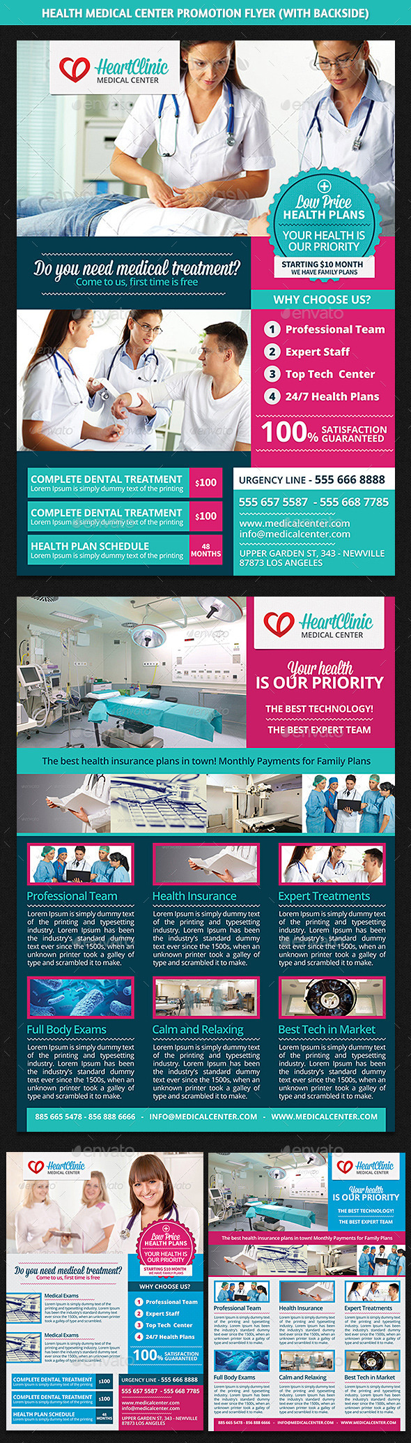 Health Medical Center Promotion Flyer - Corporate Flyers