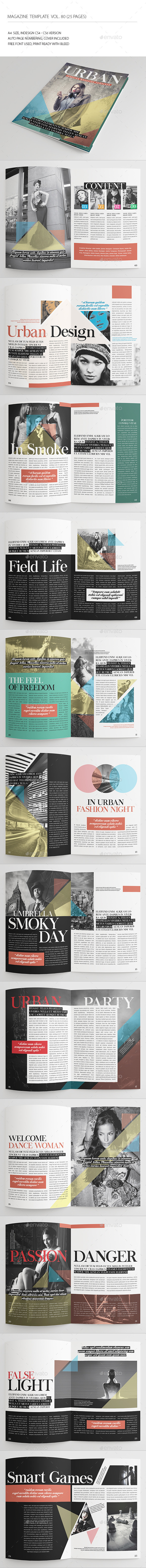 25 Pages Urban Magazine Vol80 - Magazines Print Templates