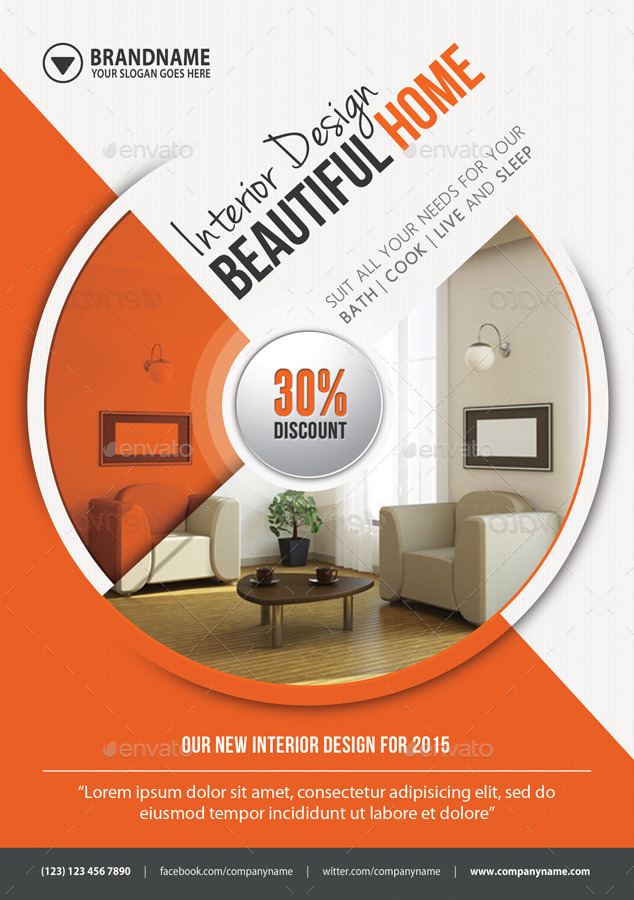 Interior Design Flexible Flyer by rapidgraf | GraphicRiver