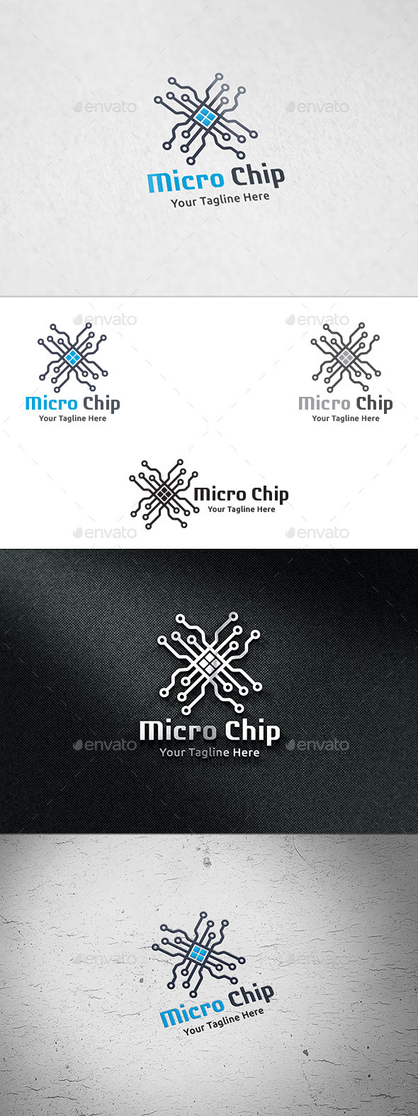 Micro Chip - Logo Template - Vector Abstract
