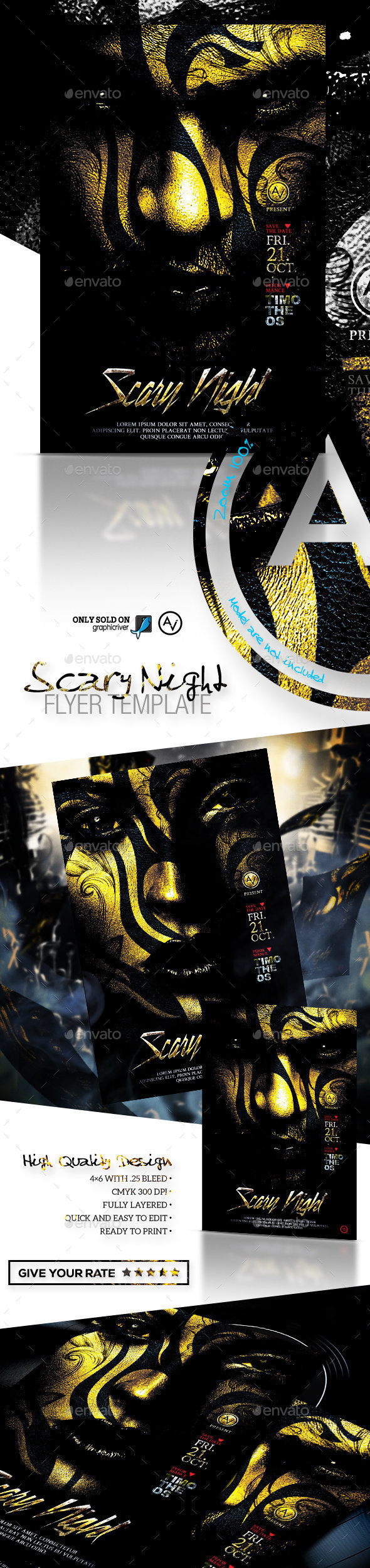 Scary Night Flyer Template - Clubs & Parties Events