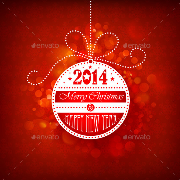 Christmas Ball on Red Background - Christmas Seasons/Holidays