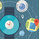 Smart Watch Concept with Icons - GraphicRiver Item for Sale