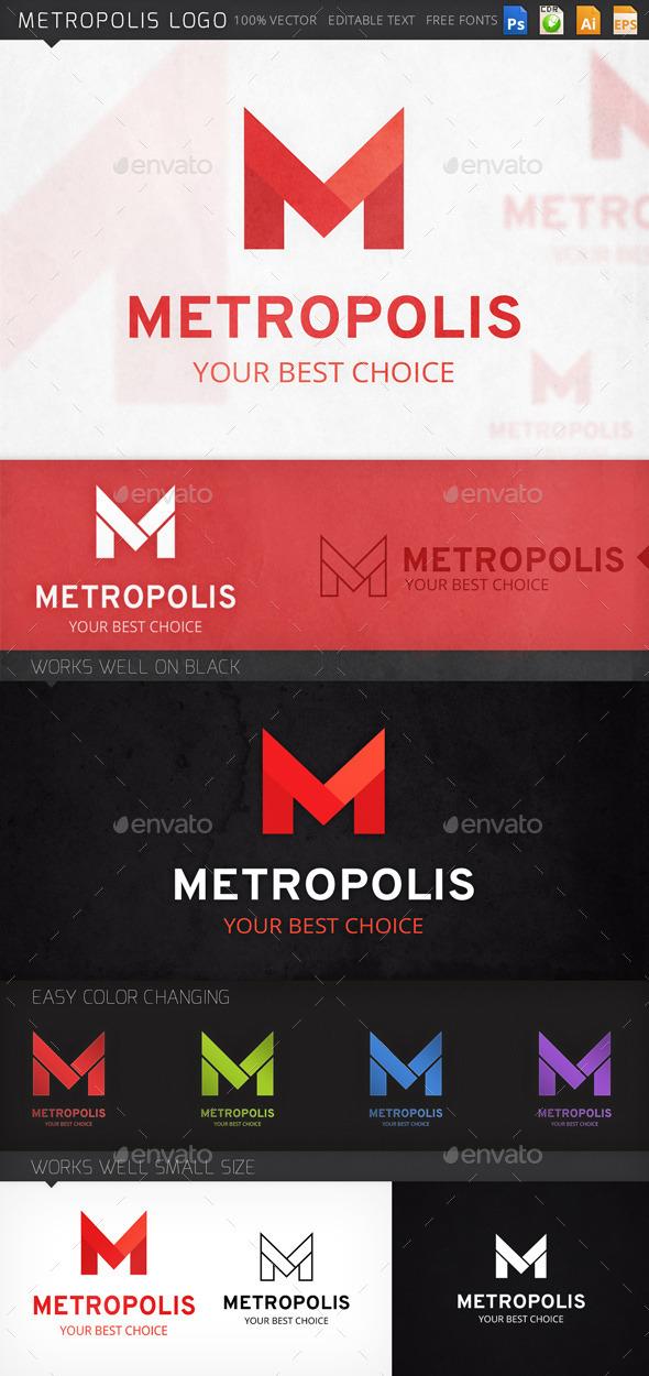 Metropolis Letter M Logo Template - Letters Logo Templates