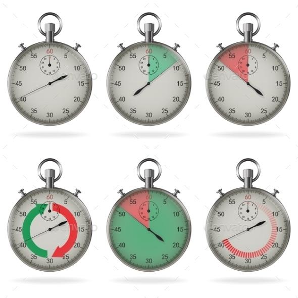Stopwatch Set - Miscellaneous Vectors