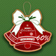 Retro Christmas badge - GraphicRiver Item for Sale