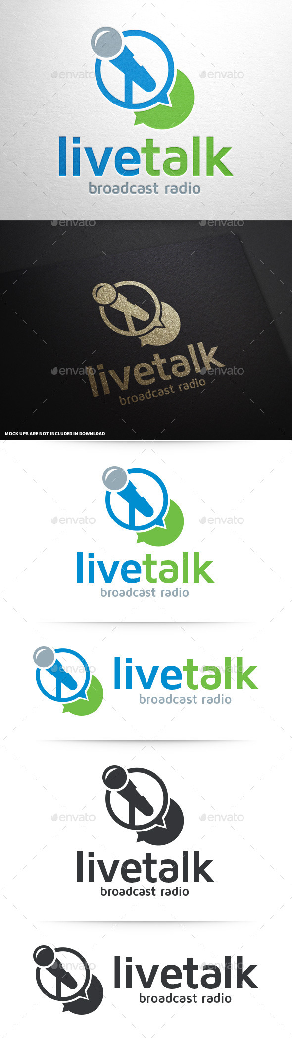 Live Talk Logo Template - Objects Logo Templates