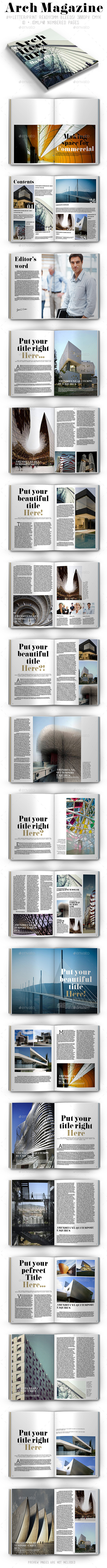 Arch Magazine - Magazines Print Templates