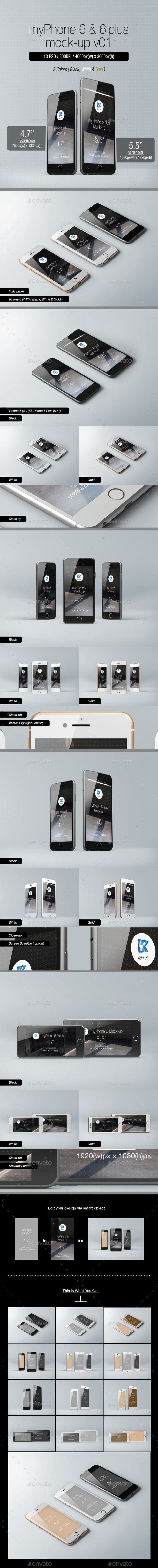 myPhone 6 Mock-up v01 - Mobile Displays