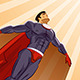 Superhero Flying Up - GraphicRiver Item for Sale