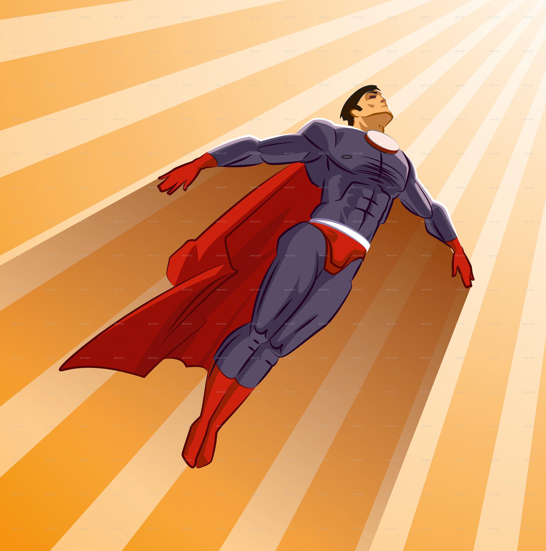 Superhero Flying Up