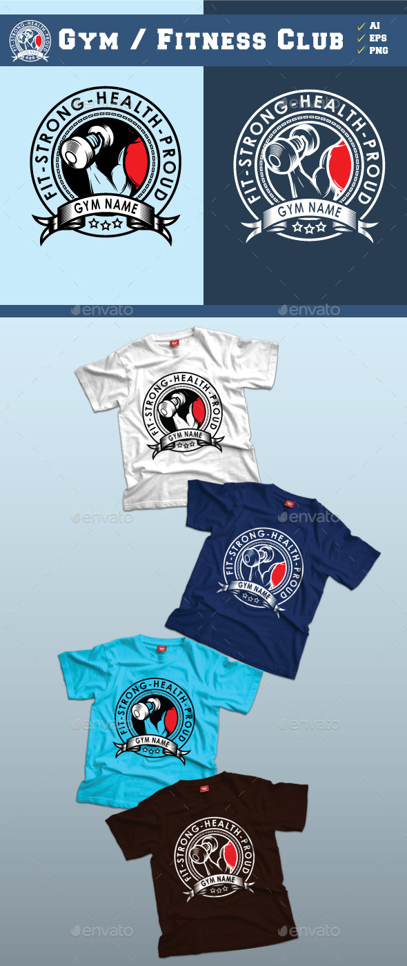 Gym Fitness Club Tshirt Design - Sports & Teams T-Shirts