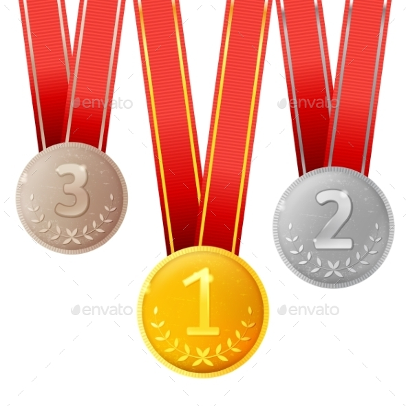 Golden, Silver and Bronze Medals - Miscellaneous Conceptual