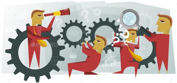 Teamwork Illustration - Concepts Business