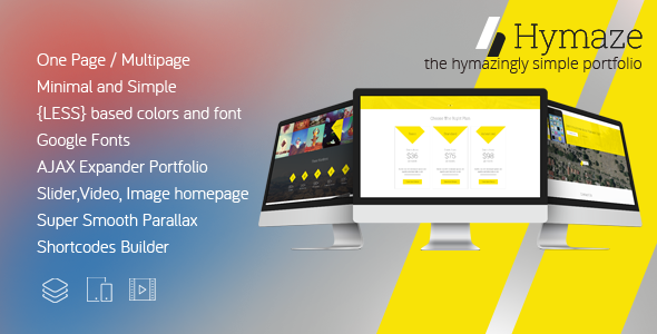 HYMAZE – Simple WordPress One Page Parallax Portfolio
