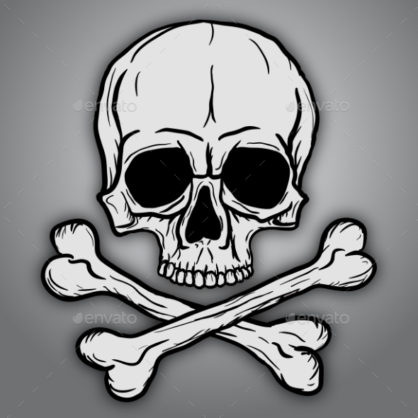 Skull and Crossbones - Health/Medicine Conceptual